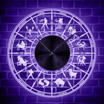 LED Wall Clock <br> Zodiac Sign