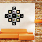 Photos Wall Clock <br> Metallic Dial
