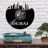 Vinyl Wall Clock <br> Dubai