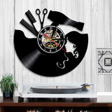 Vinyl Wall Clock <br> Hair Salon