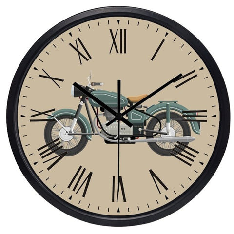 VINTAGE WALL CLOCK MOTORCYCLE