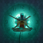 LED Wall Clock <br> Yoga