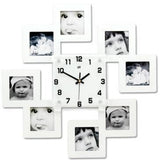 Photos Wall Clock <br> Multiple Squares