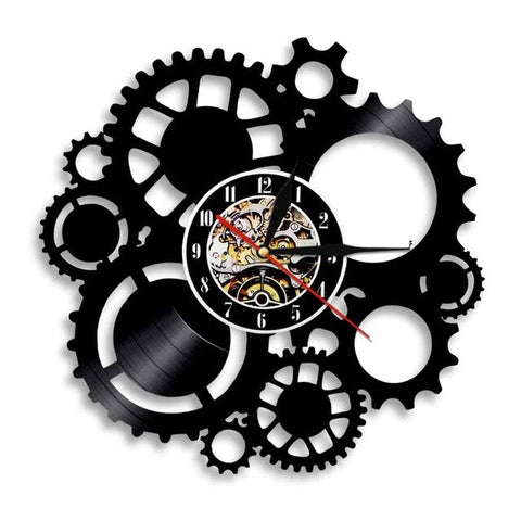 VINYL WALL CLOCK STEAMPUNK