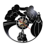VINYL WALL CLOCK BOXING HOME