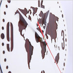 World Map Wall Clock <br> Simple Map