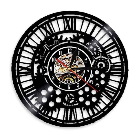 VINYL WALL CLOCK STEAMPUNK MECHANISMS