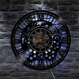 Vinyl Wall Clock <br> Steampunk Mechanisms