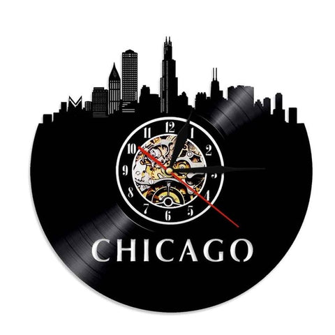 VINYL WALL CLOCK CHICAGO