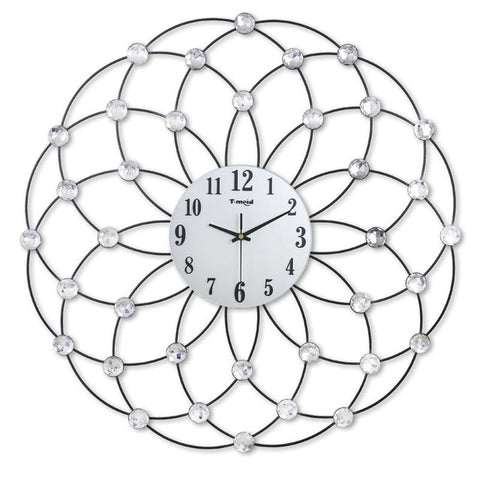 DESIGN WALL CLOCK GIANT CRYSTALS