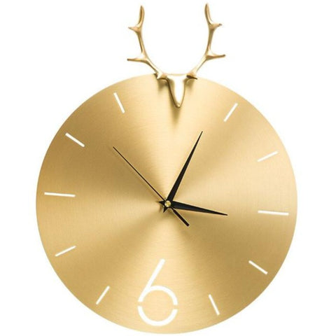 DESIGN WALL CLOCK GOLDEN DEER