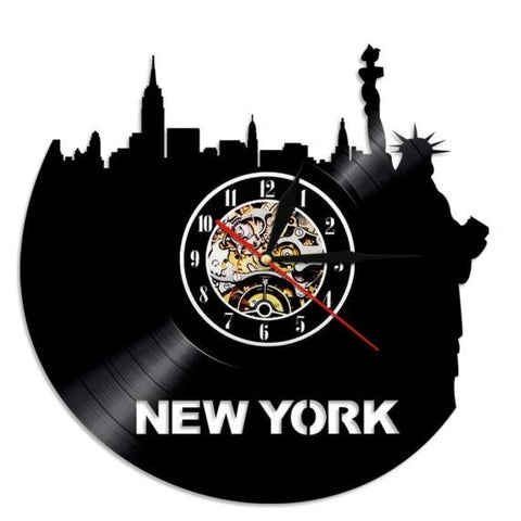 VINYL WALL CLOCK NEW YORK