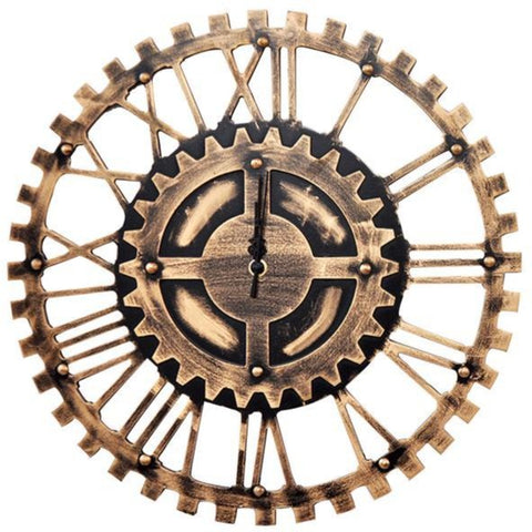INDUSTRIAL WALL CLOCK OLD COG