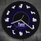 LED Wall Clock <br> Dog