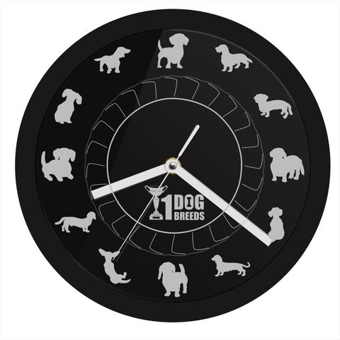 LED WALL CLOCK DOG