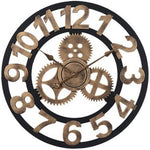 Industrial Wall Clock <br> Golden Steampunk