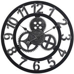 Industrial Wall Clock <br> Silver Steampunk