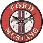 VINTAGE WALL CLOCK FORD MUSTANG