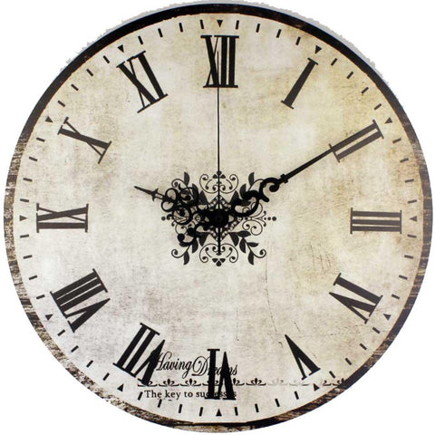 VINTAGE WALL CLOCK BELLE EPOQUE