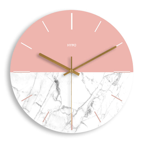 DESIGN WALL CLOCK TWO COLOUR WOOD
