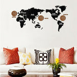 World Map Wall Clock <br> Three Clocks