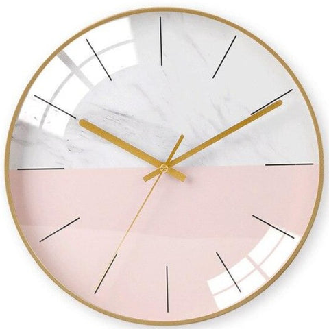 DESIGN WALL CLOCK PINK AND WHITE