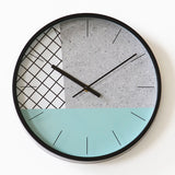 DESIGN WALL CLOCK TRICOLOR