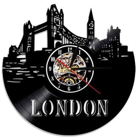 VINYL WALL CLOCK LONDON