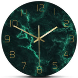 DESIGN WALL CLOCK GREEN MARBLE