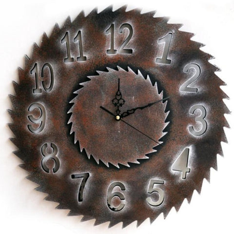 INDUSTRIAL WALL CLOCK LARGE SAW