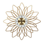 DESIGN WALL CLOCK GOLDEN FLOWER