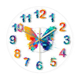 LED WALL CLOCK BUTTERFLY