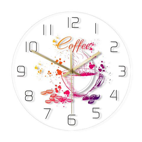 LED WALL CLOCK MULTICOLOURED COFFEE