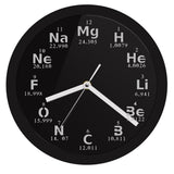 LED WALL CLOCK PERIODIC TABLE