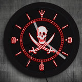 LED Wall Clock <br> Pirate