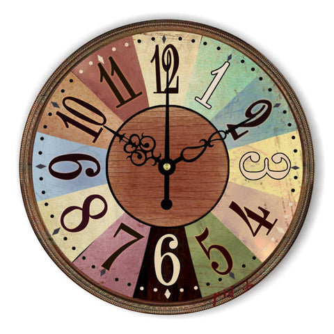 VINTAGE WALL CLOCK OLD COLORS