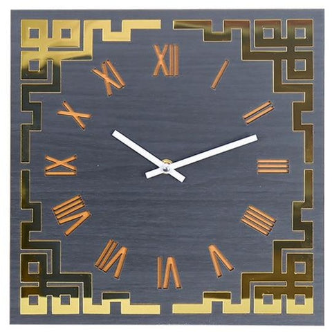 DESIGN WALL CLOCK GOLDEN SQUARE
