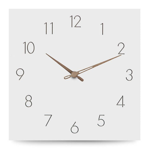 DESIGN WALL CLOCK SQUARE WOOD