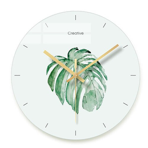 DESIGN WALL CLOCK SUCCULENTS