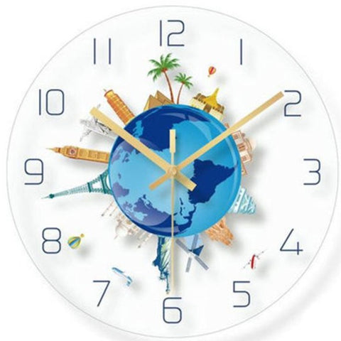 DESIGN WALL CLOCK WORLD MONUMENTS