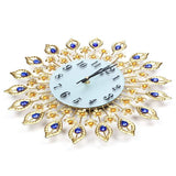 Design Wall Clock <br> Golden Feathers