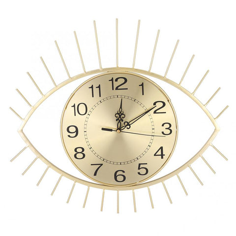 DESIGN WALL CLOCK METALLIC EYE