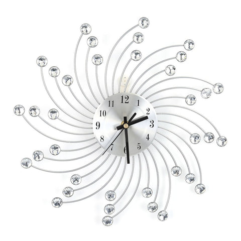 UNIQUE WALL CLOCK SILVER DESIGN