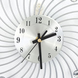 Unique Wall Clock <br> Silver Design