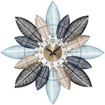 DESIGN WALL CLOCK GIANT LEAVES