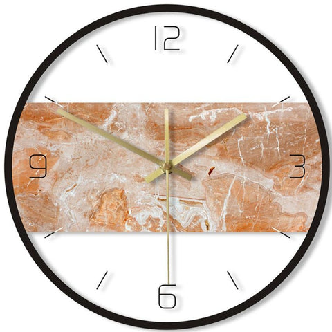 DESIGN WALL CLOCK ROCK EFFECT