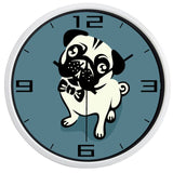 DESIGN WALL CLOCK GENTLEMAN DOGGY
