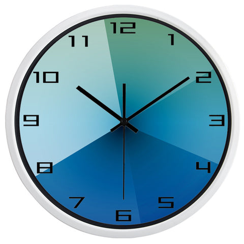 DESIGN WALL CLOCK DEGRADED BLUE