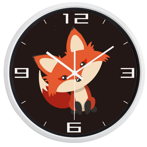 DESIGN WALL CLOCK CUTE FOX