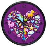 Design Wall Clock <br> Unicorn's Heart